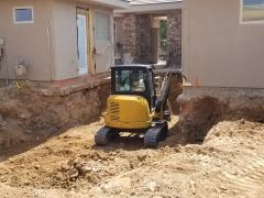 Tractor Digging Pool