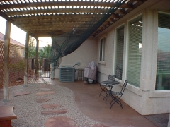 Old Trellis Patio Before Remodel