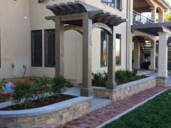 Backyard Landscape and Trellis Addition