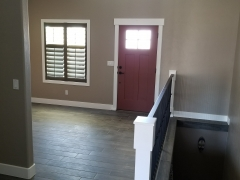 New Floor, Railing, Paint, and Casing