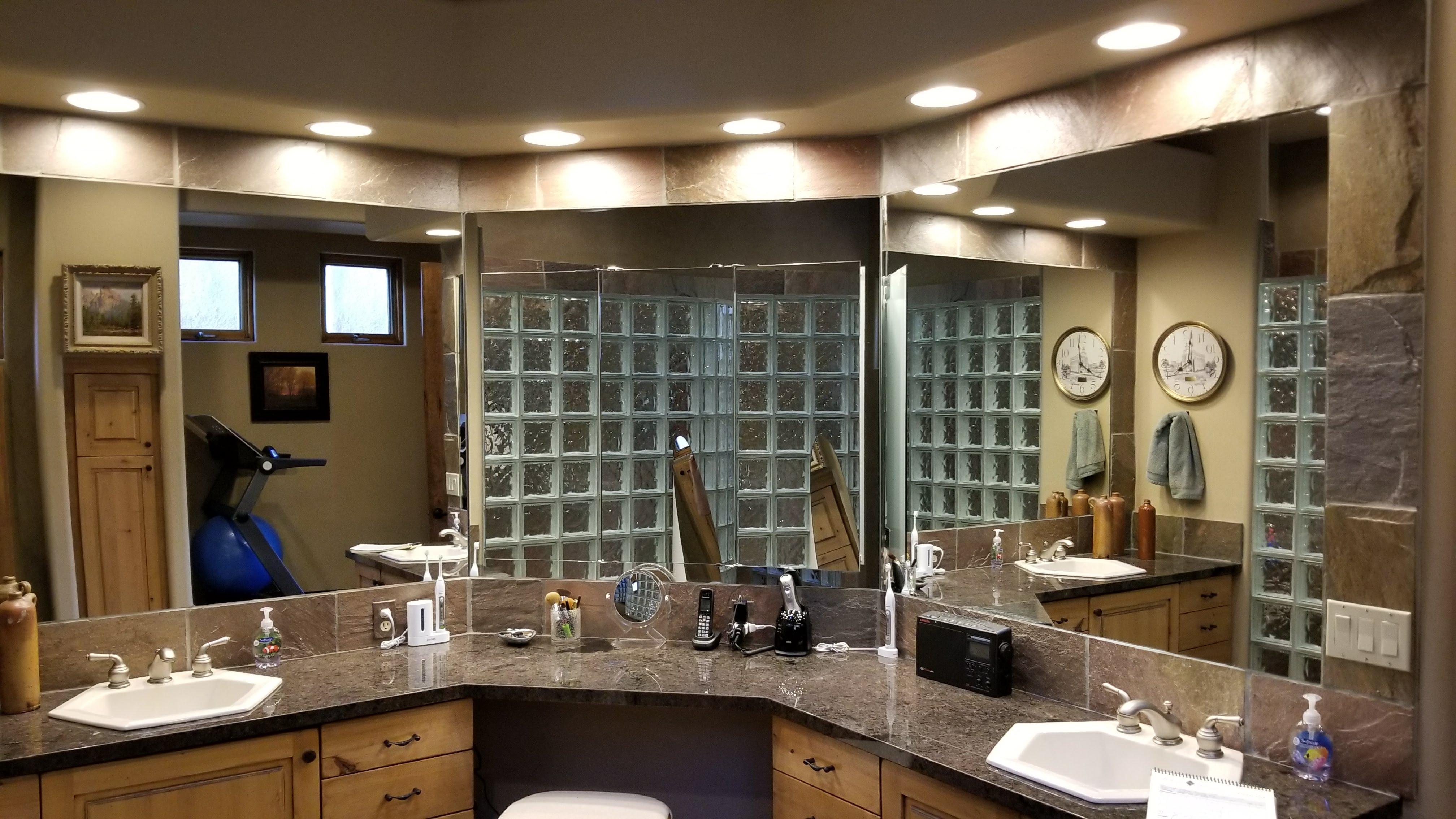 Wide Mirror 2 Sinks