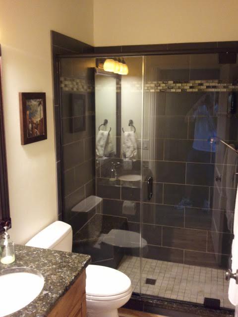Black Tile Stand Up Shower