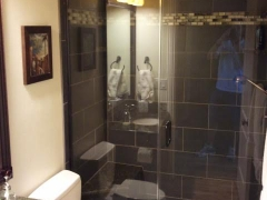 Black Tile Stand Up Shower