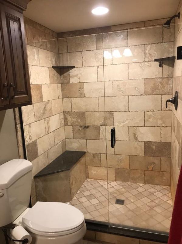 Beautiful Tiled Shower - Bathrooms