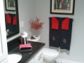 White Red Black Bathroom