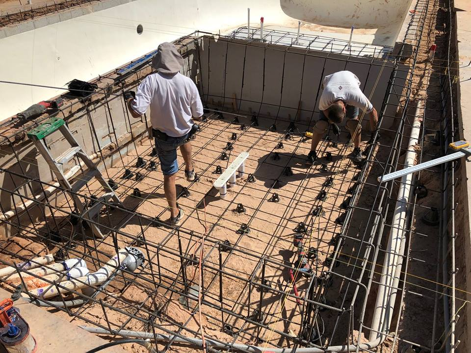 Foundation of Pool Cement
