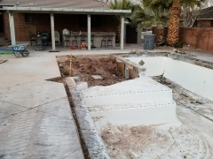 Pool in Process of Re-Construction