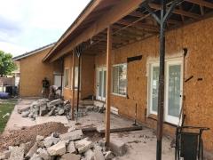 demolition backwall side view