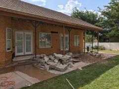 demolition exterior backwall