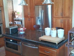 Island with Double Dish Washer and Microwave Oven - Kitchen