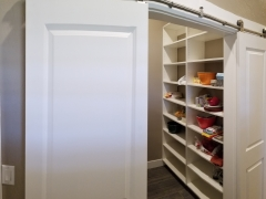Sliding Door Walk in Pantry adjacent to Kitchen
