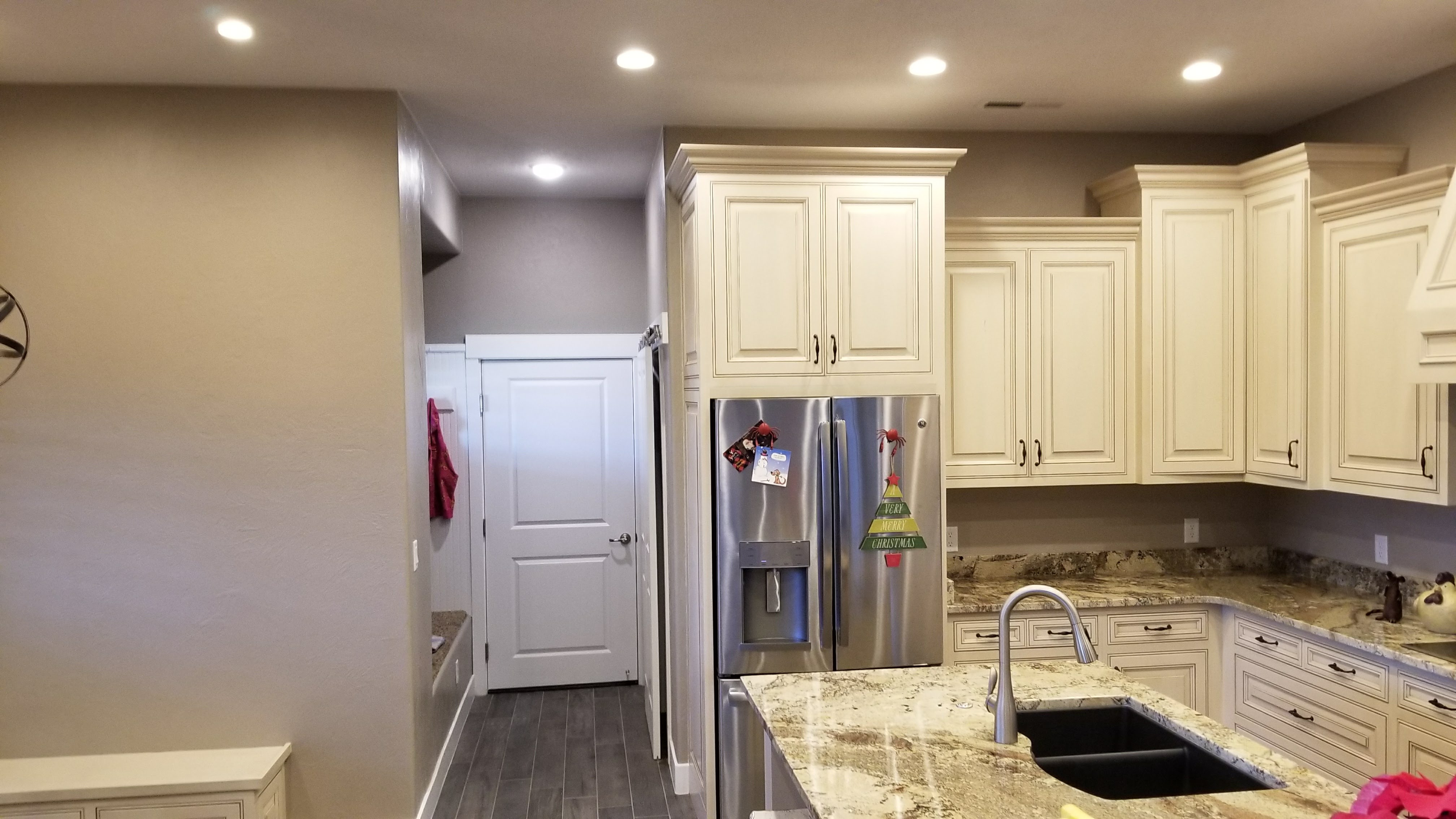White Cabinet, Pearly Countertops - Kitchen