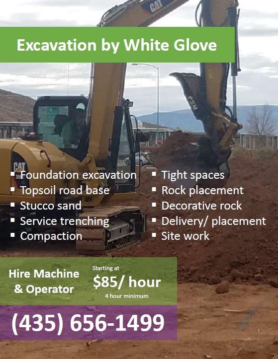 Excavating With White Glove